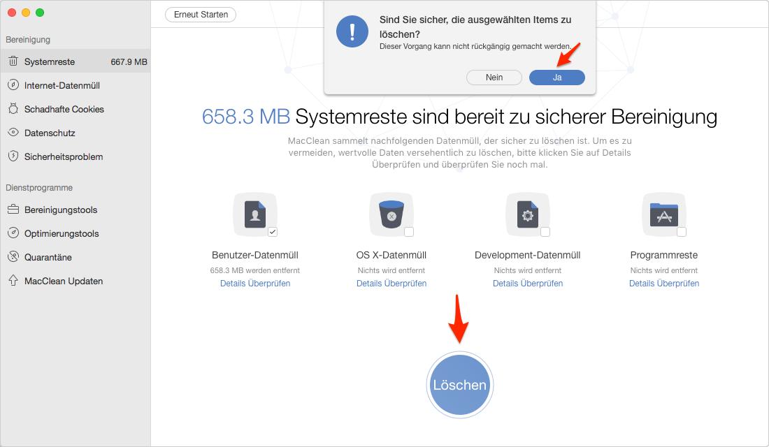 Mac Benutzerdaten sicher löschen – Schritt 5