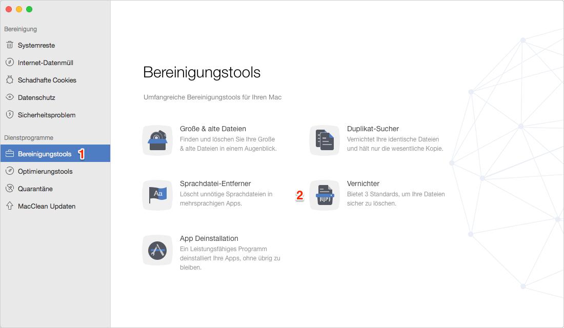 Mac Dateien gründlich löschen – Schritt 1