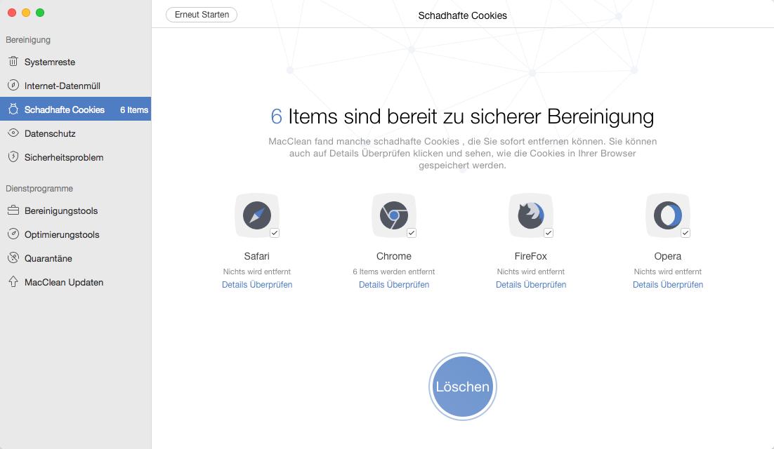 Unnötige Dateien vom Mac löschen