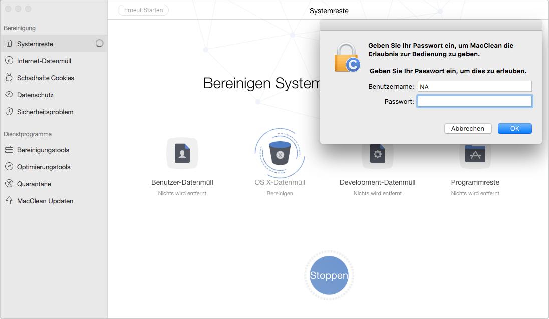 Passwort vom Mac eingeben – Schritt 7