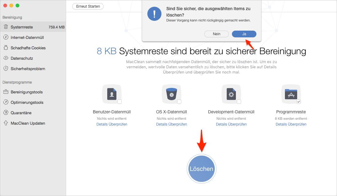 Mac Programmreste komplett entfernen – Schritt 5