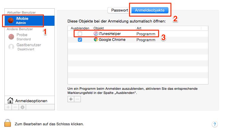 macOS Sierra beschleunigen: Anmeldeobjekt ausmisten