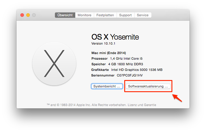 Mac System updaten – Wie kann man Mac beschleunigen
