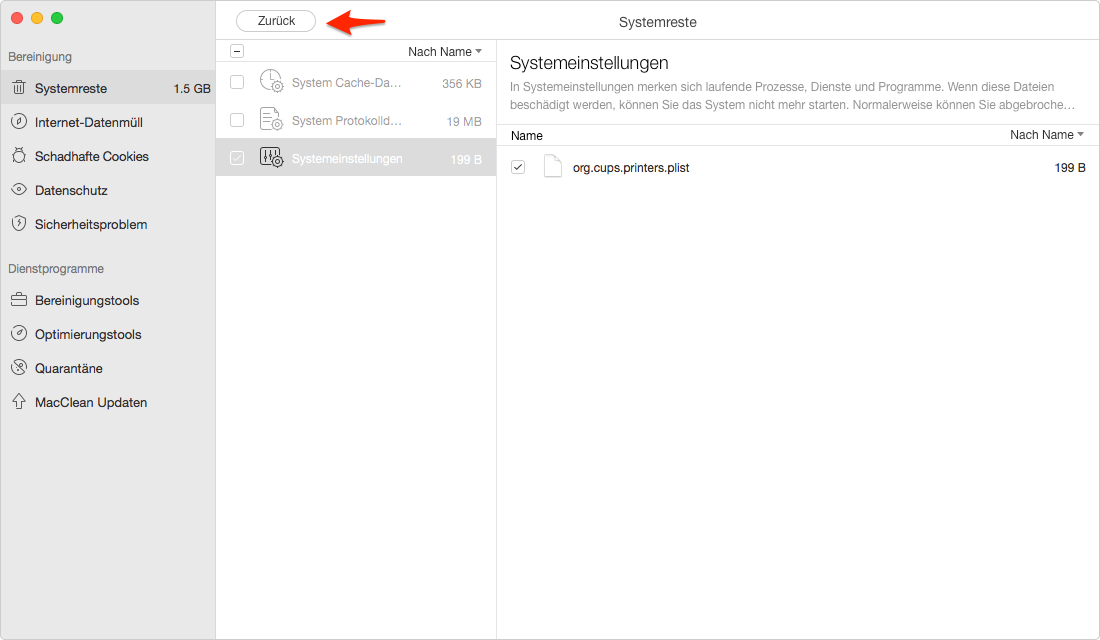Systemeinstellungen vom Mac gründlich und sicher löschen – Schritt 4