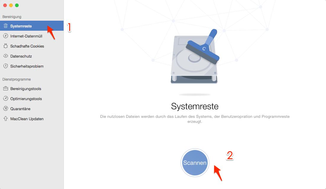 Temporäre Dateien löschen auf den Mac – Schritt 2