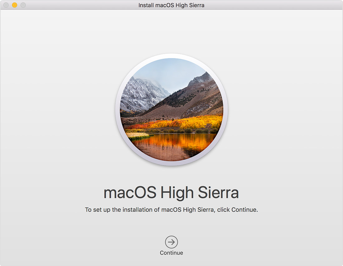 macOS High Sierra – Download und Installation