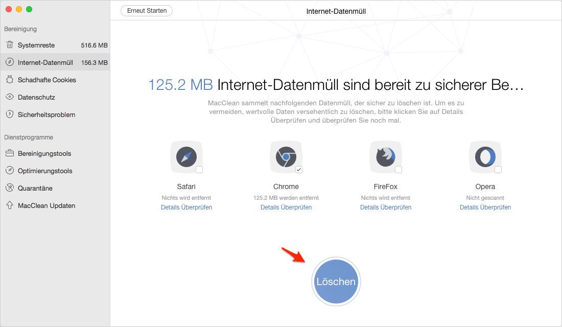 Chrome Cache vom Mac schnell leeren - Schritt 3