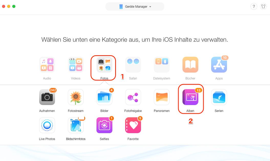 iPad Alben schnell löschen - Schritt 2
