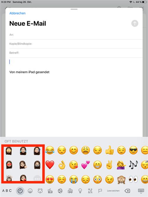 memoji-in-e-mail-verwenden