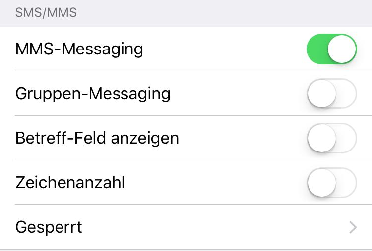 MMS auf dem iPhone aktivieren
