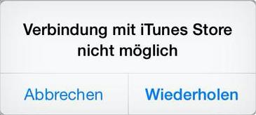 iTunes Probleme/Fehler – Verbindung zum iTunes Store nicht möglich