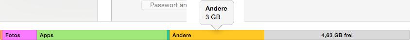 iTunes 12/12.7.2 Probleme – iTunes zeigt die andere Speicher vom iOS-Gerät