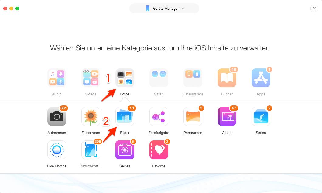 iTunes Fotos synchronisiert geht nicht – AnyTrans verwenden