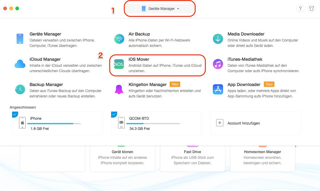 Move to iOS geht nicht - Schritt 1