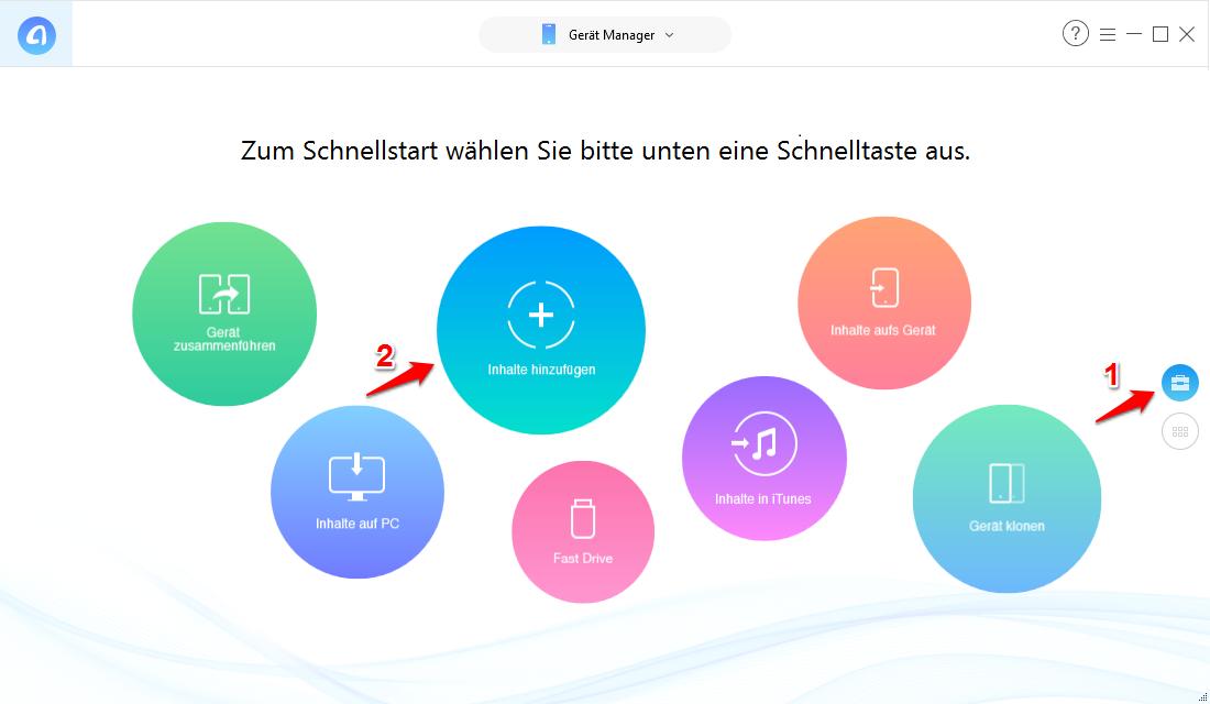 MP3 auf iPhone ohne iTunes übertragen – Schritt 1