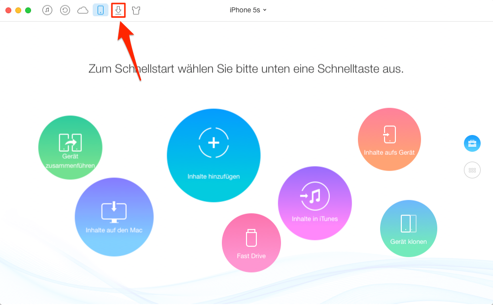 MP4 auf iPhone laden – Schritt 1