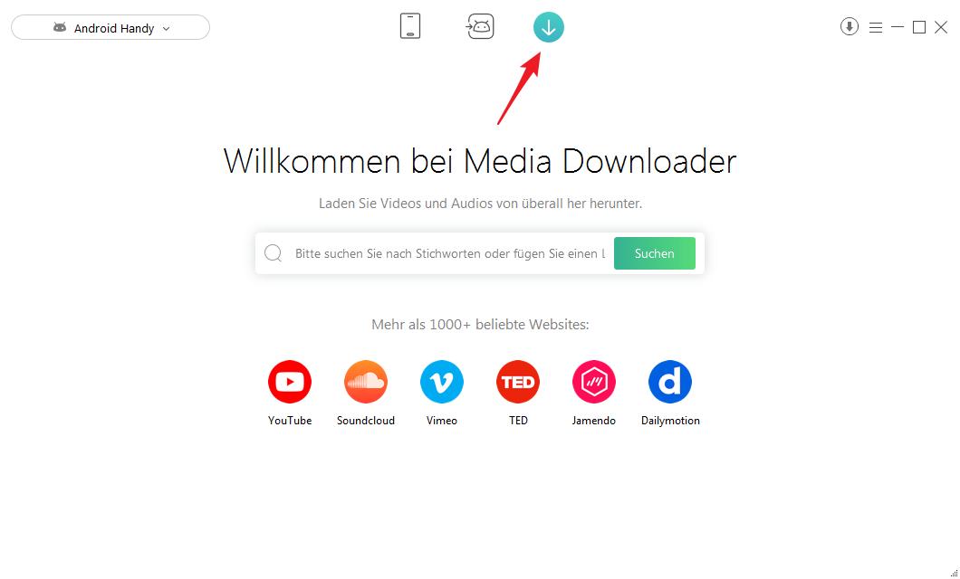 Musik auf Huawei laden - Media Downloader
