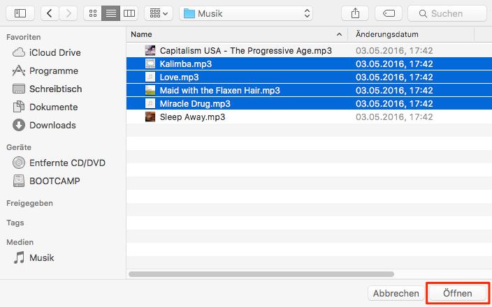 Musik auf iPhone 7/8/X übertragen ohne iTunes – Schritt 4