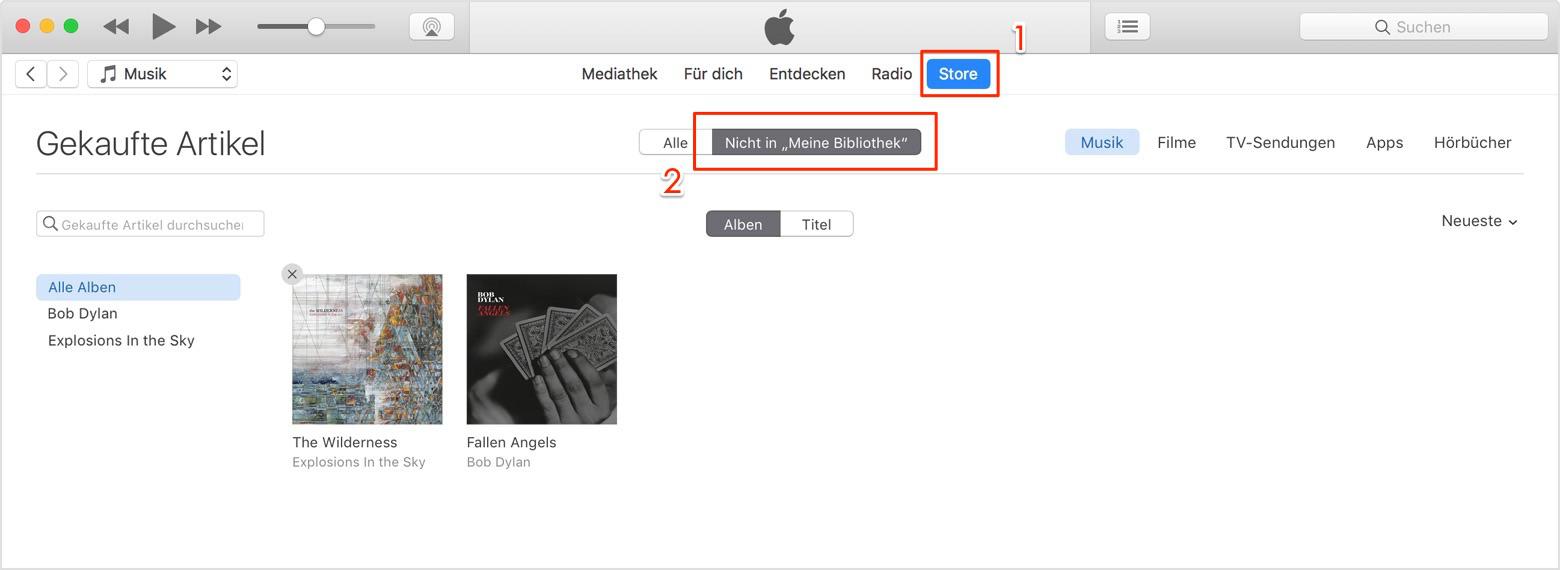 iCloud Musik laden
