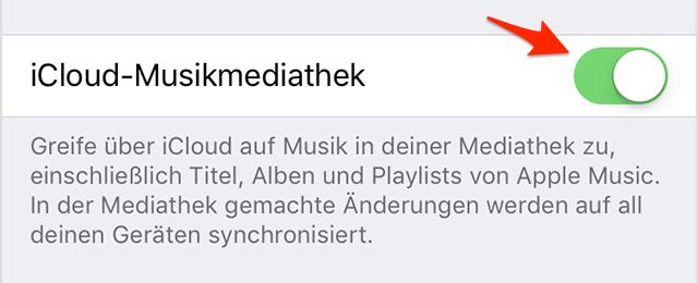 Musik aus iCloud laden