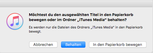 iTunes Musik löschen