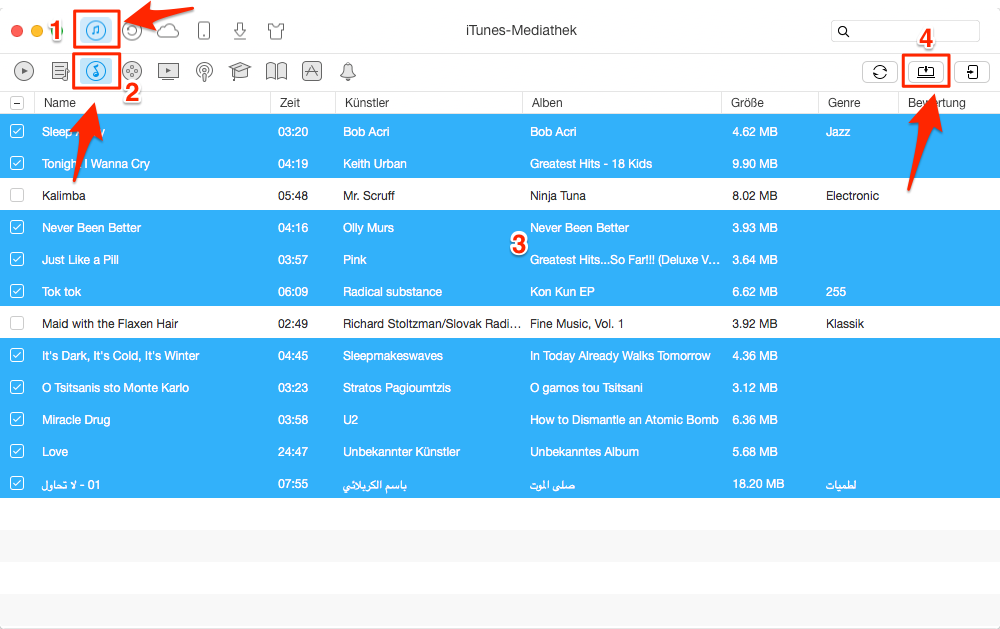 Musik aus iTunes löschen – iTunes Musik auf Computer senden
