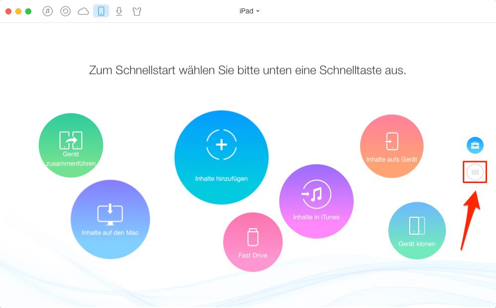 Musik vom iPad auf iMac - Schritt 1