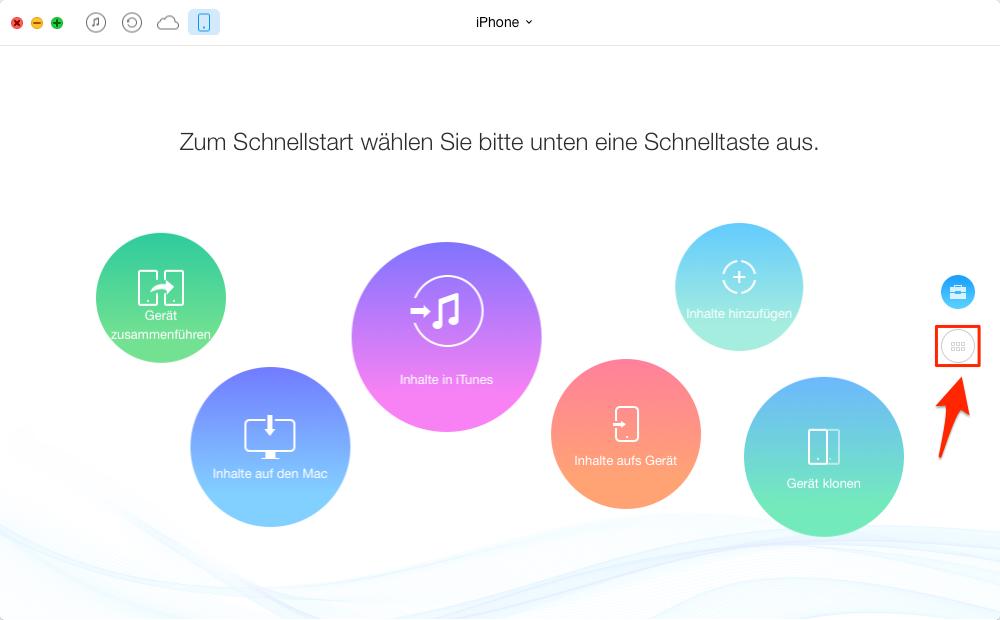 Musik vom iPhone 6s in iTunes übertragen – Schritt 1