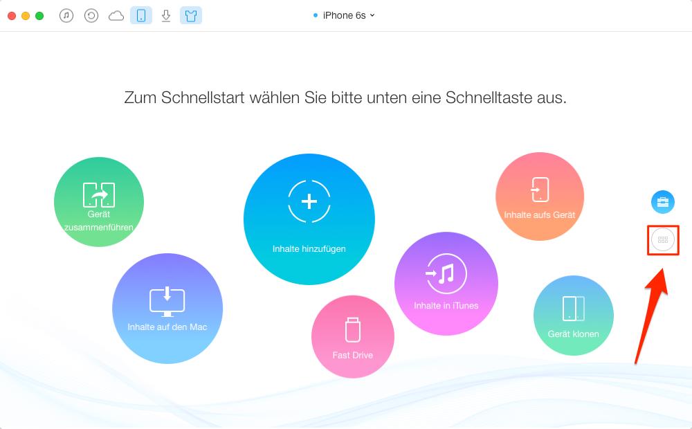 Musik vom iPhone auf iPad – Schritt 1