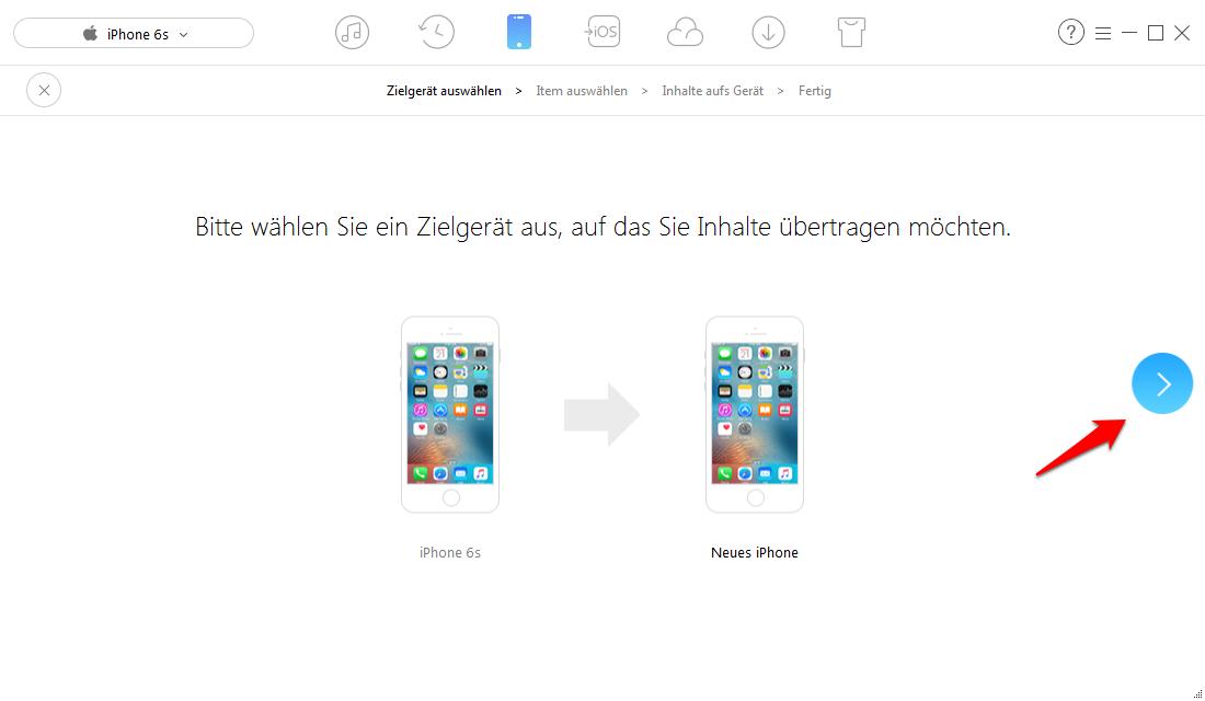 Musik von altem iPhone auf neues iPhone X/8/7 – Schritt 2
