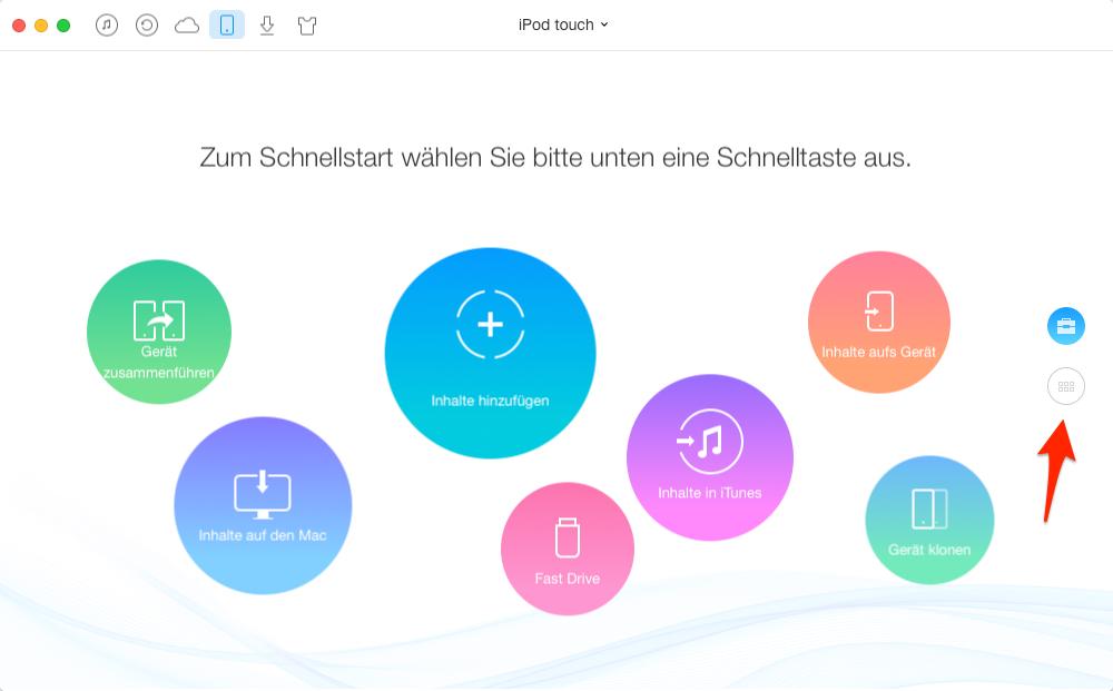 iPod Musik löschen, ohne iTunes – Schritt 1