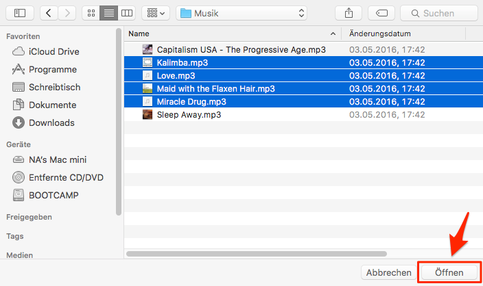 Ohne iTunes! Musik vom Mac auf iPhone 6s übertragen – Schritt 4