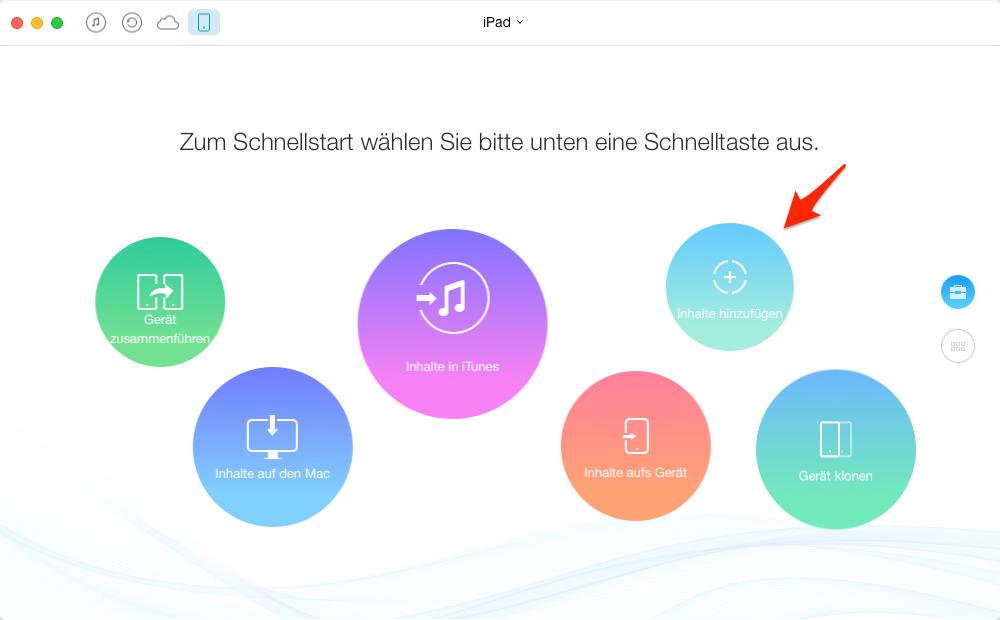 Filme und Videos auf iPad laden – Schritt 2