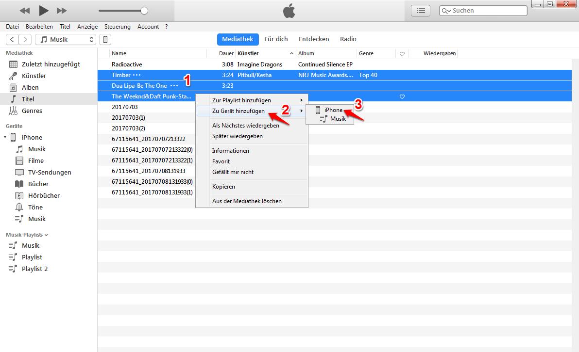 Musik vom PC auf iPhone X – Mit iTunes