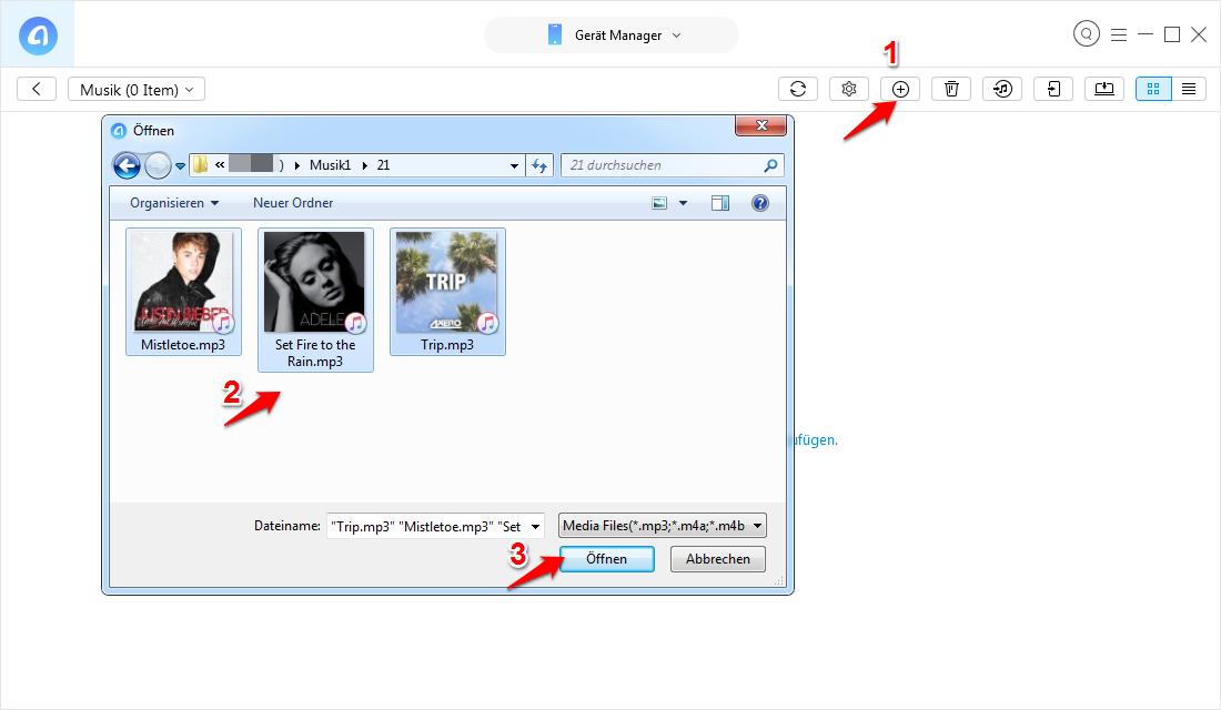 Einfach: Musik vom USB-Stick auf iPhone übertragen - Schritt 3