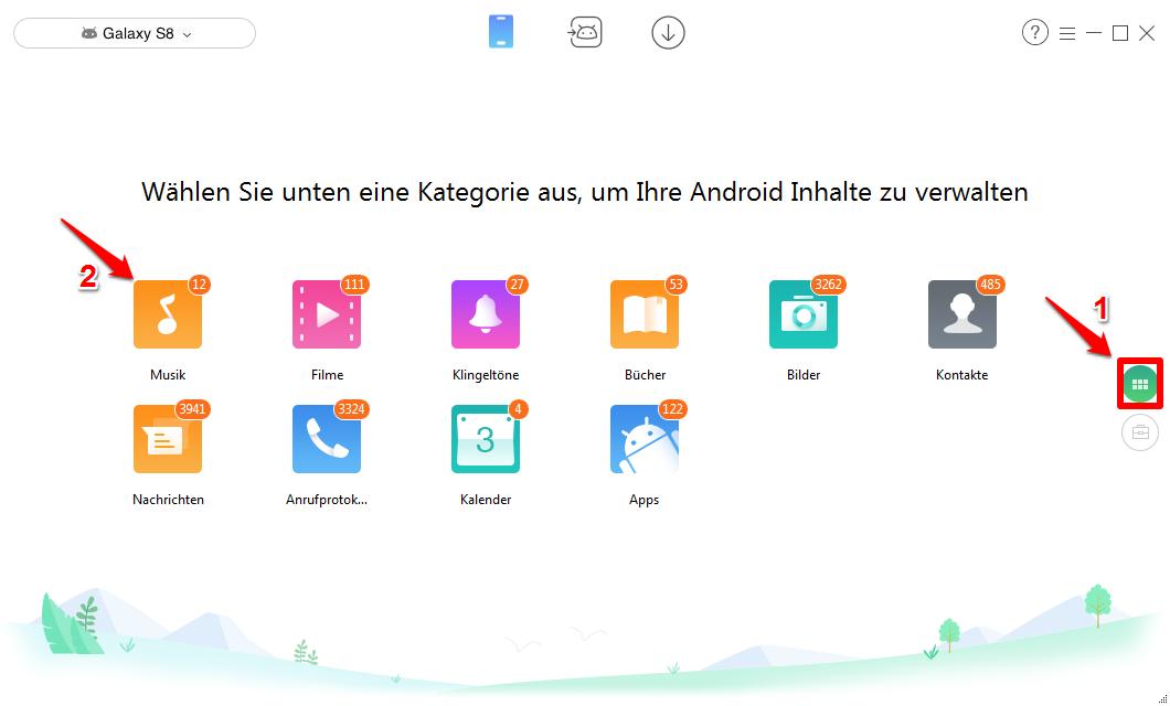 Musik von Android auf Android übertragen – Schritt 2