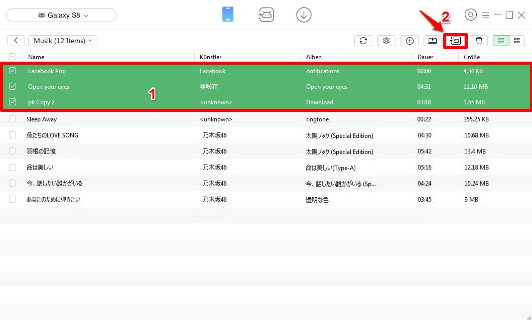 Lieder von Android auf Android – Schritt 3