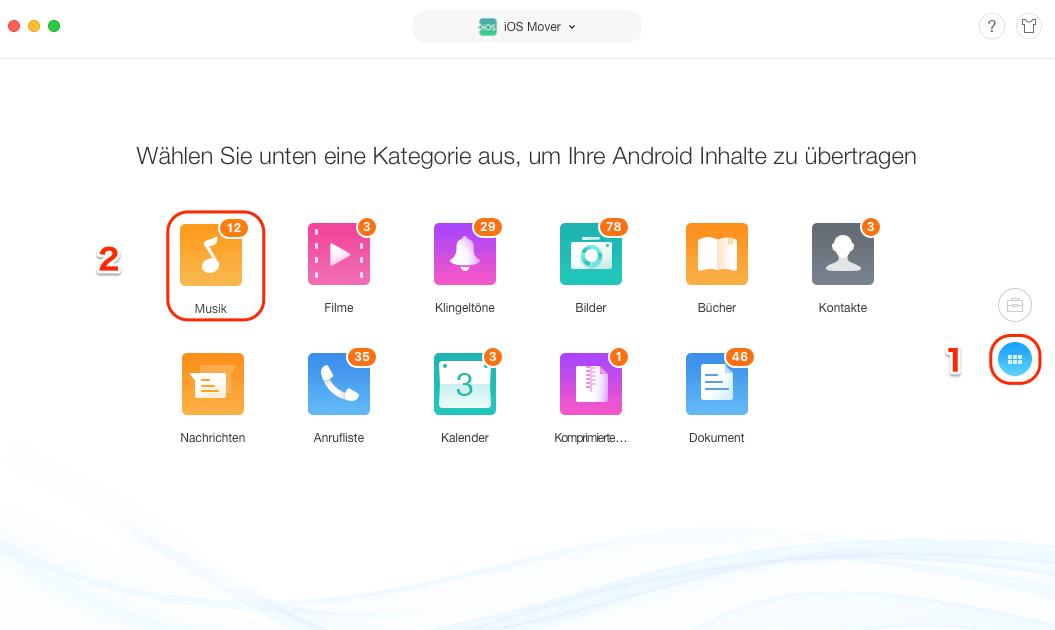 Musik von Android auf iPhone übertragen - AnyTrans öffnen
