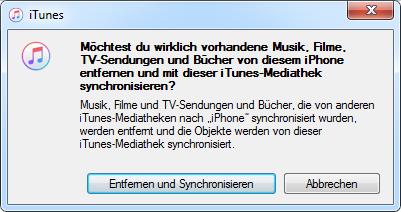 Musik von iTunes auf iPhone mit iTunes – Datenverlust
