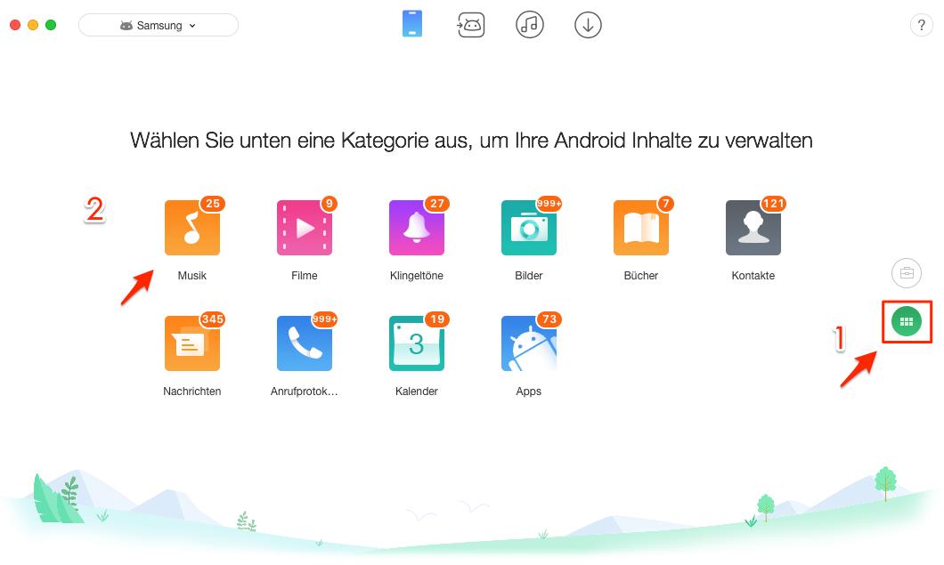 Musik vom Mac direkt auf Android – Schritt 2