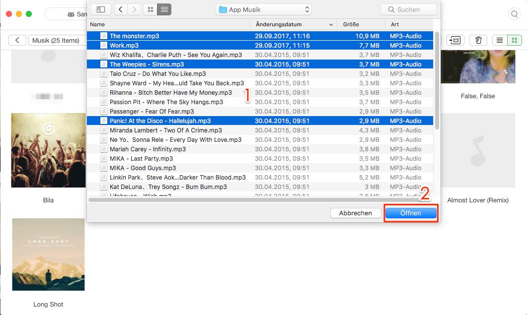 Musik von Mac auf Android-Gerät hinzufügen – Schritt 3