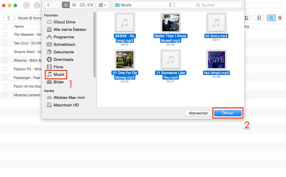 Schnell! Musik vom Mac auf iPad übertragen – Schritt 3