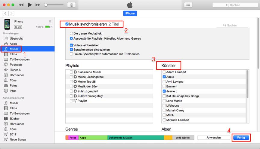 Musik vom Mac auf iPhone übertragen – mit iTunes