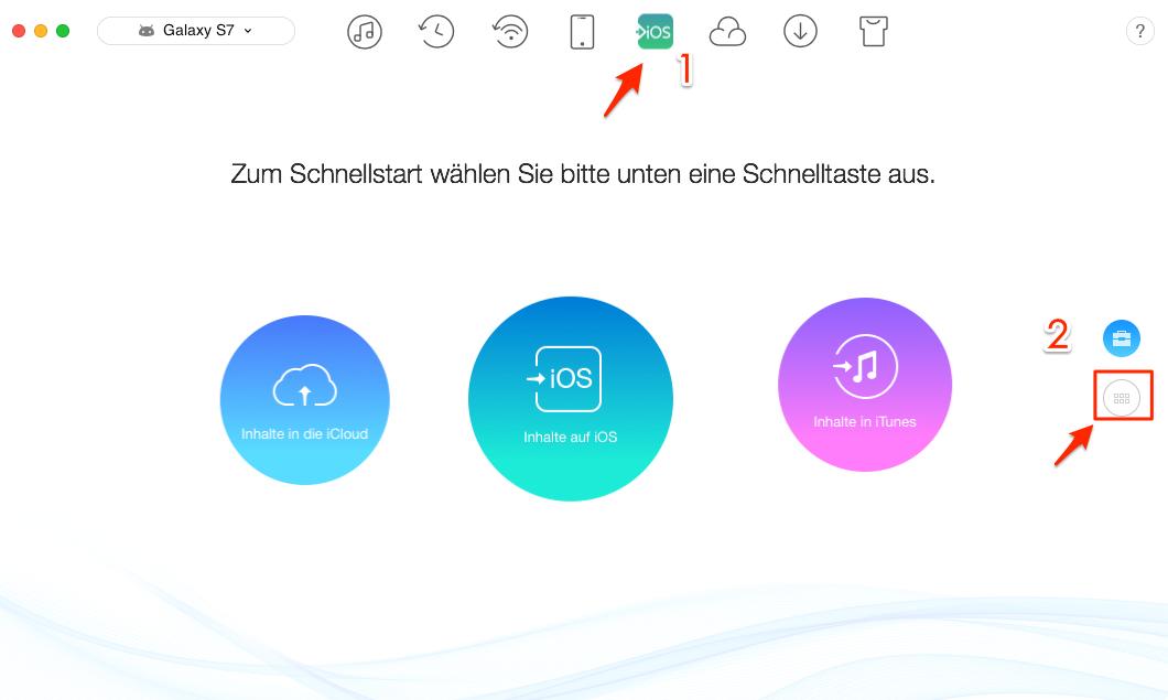 Musik von Samsung auf iPhone - Schritt 1