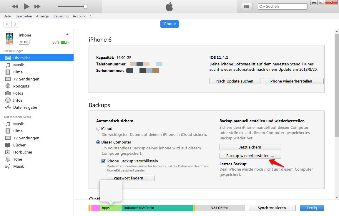 Nach iOS 12: iPhone Musik verschwunden – Mit iTunes wiederherstellen