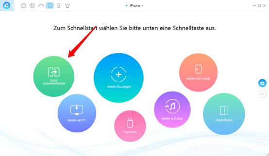 Über AnyTrans Nachrichten vom iPhone zu iPhone 6/6s – Schritt 2