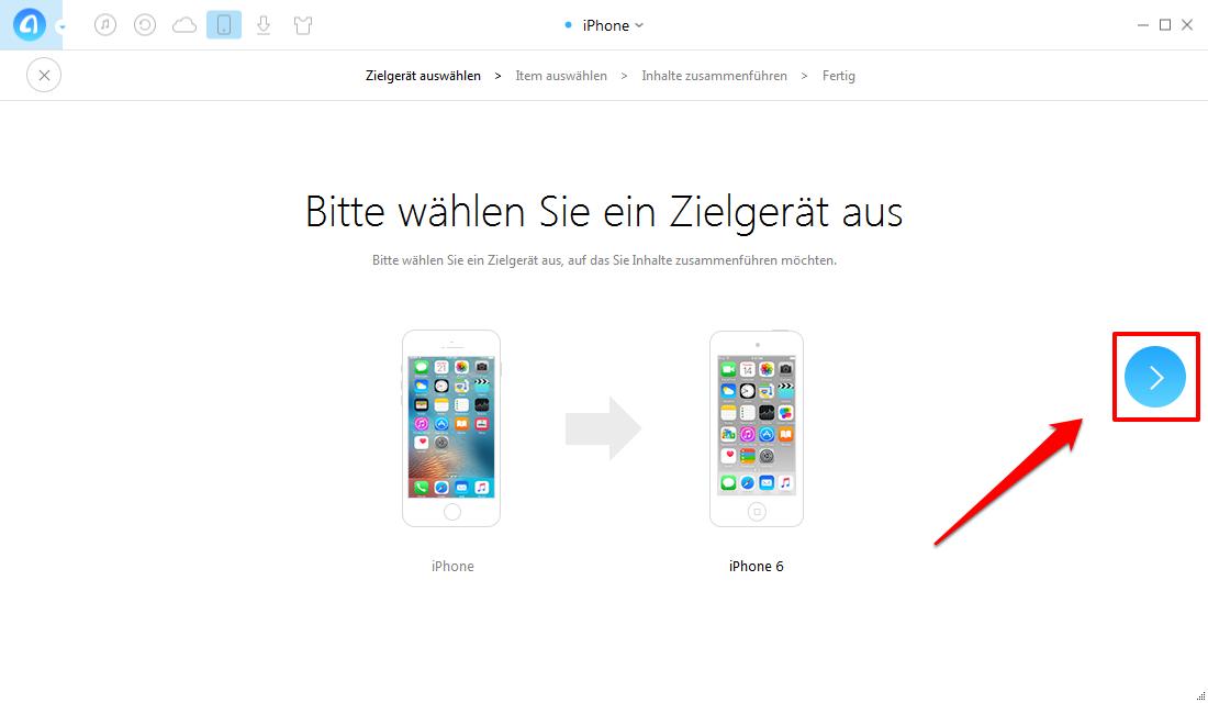Nachrichten vom iPhone zu iPhone 6/6s übertragen – Schritt 3