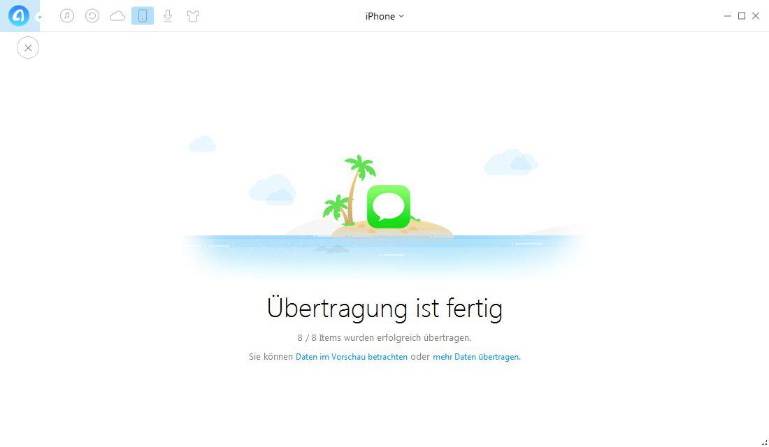 SMS vom iPhone auf Mac übertragen – Schritt 3