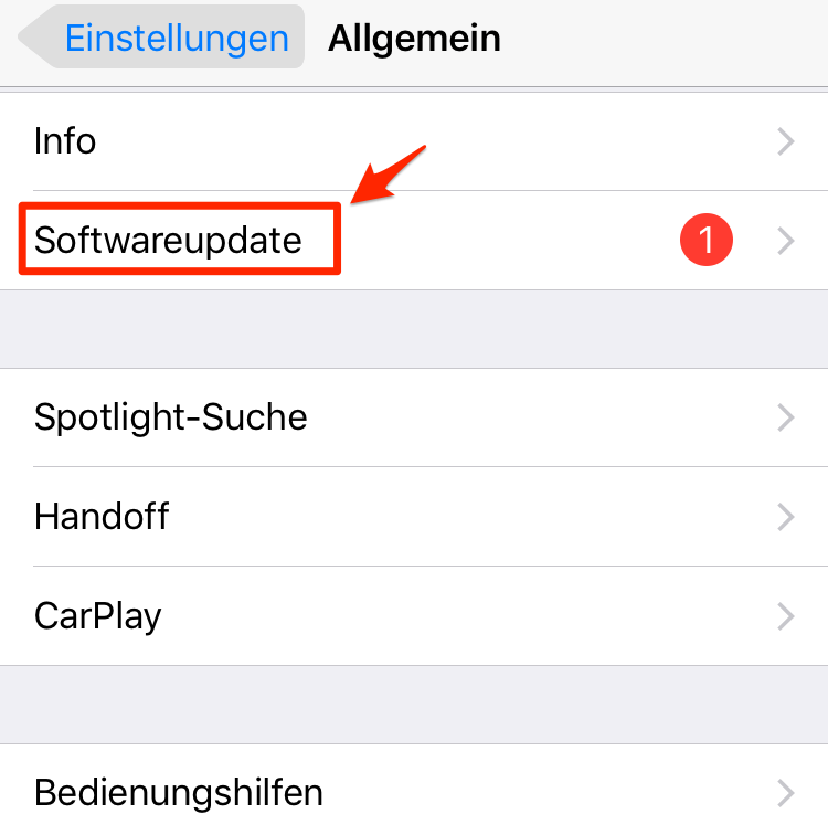 iOS 11 Download – Schritt 2