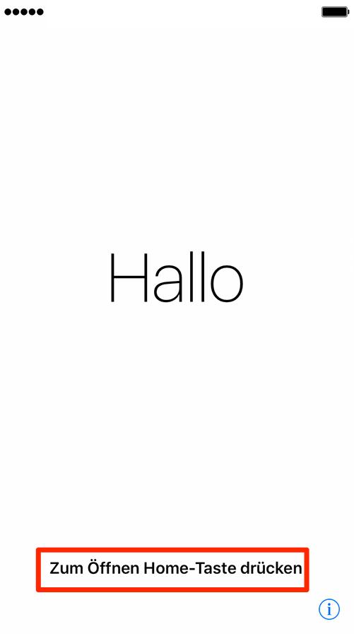 iPhone 8 einschalten und Konfiguration starten